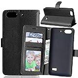 JEEXIA® Funda para Huawei G Play Mini, Moda Business Flip Wallet Case Cover PU Cuero con Soporte Cubierta Protectora - Negro