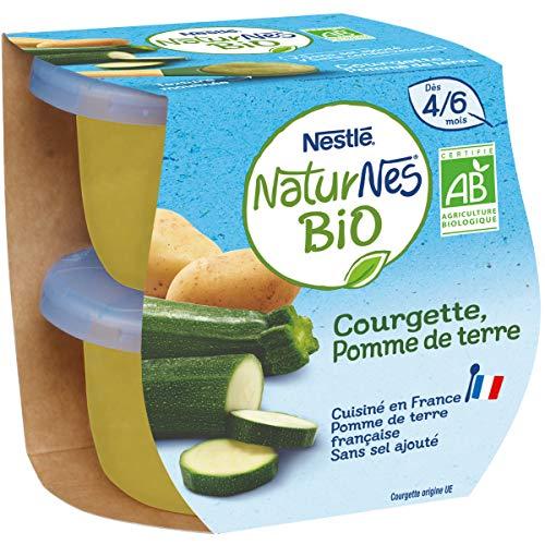 Nestle Bebe Naturnes Bio Petits Pots Bebe Courgette Des 4/6 Mois 2 X 130g