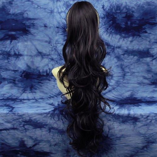 NOUVEAU LONGUE MARRON Queue de Cheval Barrette Extension de cheveux