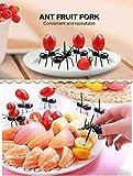 OOTSR Ameisenfutter-Picks Wiederverwendbare Obst Dessert Gabel (24 stück), Kreative Food Fork Frucht Gabel für Snack Cake Dessert mit Aufbewahrungsbox für Küche Baby Shower Hochzeit Geburtstagsfeier - 4