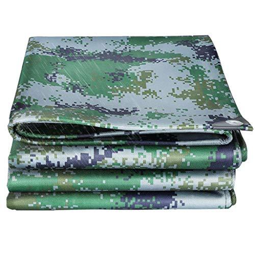 Los militares camuflan tela impermeable, a prueba de agua Protector solar engrosamiento Jungle Rain de tela Oxford Shed paño de la lona al aire libre del poncho Jardín Pesca Hamaca lluvia vuelo Lona C