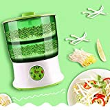 Bean Sprouts Machine 2 Layers Automatic Seed Sprouter Power-Off Memory Function Sprouter 110V