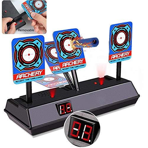 TOMATION Zielscheibe für Nerf,Elektronische Scoring Target Automatische Rückkehr Scoring Target, Digitale Zielscheibe,Intelligentes Light-Sound-Effekt-Scoring, Spielzeug für Kinder