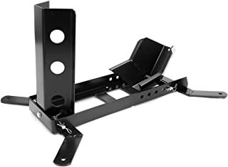 XtremepowerUS Motorcycle Trailer Wheel Chock 1000 Lbs Weight Capacity Motorcycle Stand Mount Adjustable Upright, Black