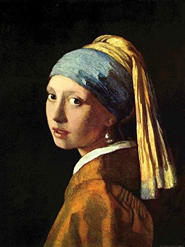 1art1 Johannes Vermeer Poster Reproduction - La Jeune Fille À La Perle, 1665 (80 x 60 cm)