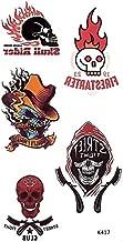 Biker Tattoo Rocker Tattoo Skull Tattoo Party Tatt...