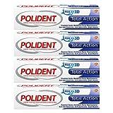 Polident – Crème Fixative – Pour Prothèses Dentaires Partielles ou Complètes – Total Action – 40 g