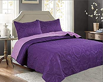 purple bedspreads queen size