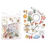 BLOUR 40 Uds Hojas y Setas Pegatinas de papelería Pegatinas Decorativas de Plantas en el Cuaderno DIY álbum de Recortes Diario Suministros de Arte