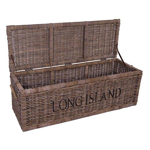 Vintage-Line Korbtruhe Long Island stor rotting korg naturlig rattan rotting bröst sänglåda