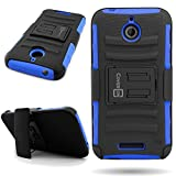 HTC Desire 510 Holster Case (Blue/Black) CoverON Protective Belt Clip Kickstand Phone Cover for HTC Desire 510