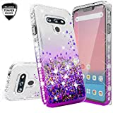 Wydan Case for LG Stylo 6 - Glitter Hybrid Shockproof Liquid Quicksand Bling Phone Cover w/Tempered Glass Screen Protector