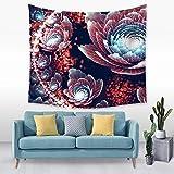 jtxqe Tapiz de patrón de Flores Tridimensional Tela para Colgar en la Pared Tela de decoración de Cama 7 150 * 130 cm