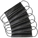 La Loria 5X Einweg Mund-Nase-Bedeckung - in Schwarz - Mundschutz, Staubschutz, Bandana, Halstuch, Unisex, Einheitsgröße