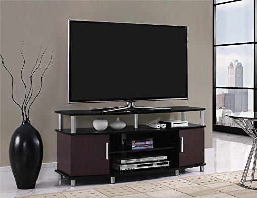 Ameriwood Home Carson TV Stand for TVs up to 50', Cherry/Black