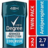 Degree Men Advanced Protection Antiperspirant Deodorant, Cool Rush, 2.7 oz, 2-Pack