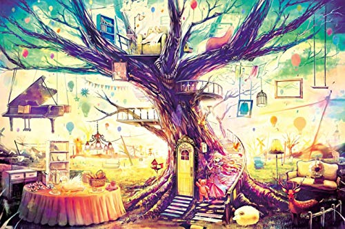 Ingooood - Jigsaw Puzzle 1000 Pieces- Dream House of Young Lady- IG-0509- Entertainment Recyclable Materials Plastic Puzzles Toys