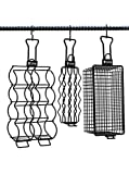 Hngr Grill Baskets 3pc