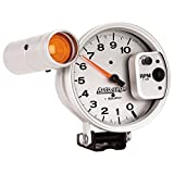 Autogage by AutoMeter 5 in. Pedestal Mount Tachometer, 0-10,000 RPM with Large External Shift Light 233911