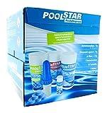 Poolpflegeset/bestehend aus Chlorgranulat organisch, Multifunktionspflege, 1 Dosierschwimmer, ph-Senker und 50 Teststreifen