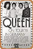 Brandless Queen On Tour'79 In Germany Jahrgang Blechschild