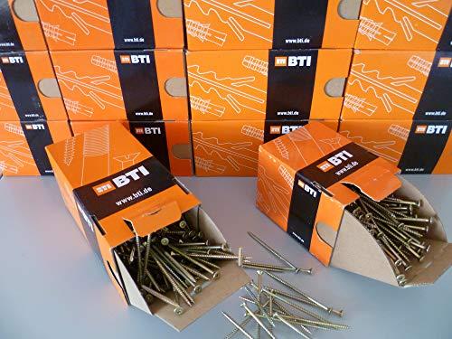 Spanplattenschrauben gelb verzinkt, Senkkopf, Holzschrauben, Torx, Teilgewinde BTI (4,0 x 35 mm 500 St.)