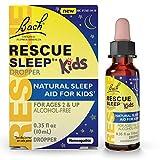 Bach RESCUE Sleep Kids Dropper 10mL, Natural Sleep Aid, Homeopathic Flower Remedy, Free of Melatonin, Sugar, and Gluten, Kid-Friendly, Non-Alcohol Formula