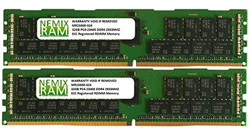 64GB 2x32GB DDR4-2933 PC4-23400 RDIMM Memory for Apple Mac Pro 2019 MacPro 7,1 by Nemix Ram