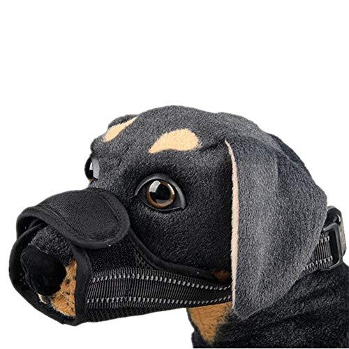 ZUOLUO Bozal para Perros Bozales para Perros Hocico del Animal doméstico Anti ladridos bozal Bozales de Perro para Evitar Comer Black,L