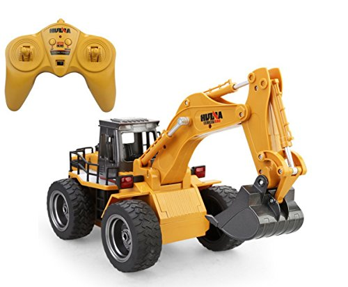 Huina 2.4Ghz Radio Control Alloy 6 Channel 4 Wheel Excavator...
