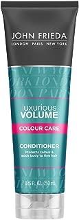 John Frieda Luxurious Volume Colour Care Conditioner for Fine Hair, 8.45 Ounces