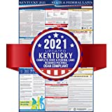 2019 Kentucky State and Federal Labor Laws Poster – OSHA Workplace Compliant 24' x 36' – Todo en uno requerido envío – UV Coated