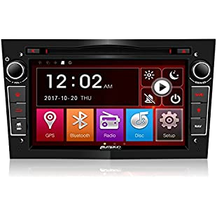 Pumpkin Double Din Car Stereo Sat Nav for Vauxhall Corsa Astra Vectra Vivaro Antara Support CD DVD Audio Player Radio Bluetooth Steering Wheel Control USB SD Subwoofer AUX Cam-In (with Free Map Card):Superclub