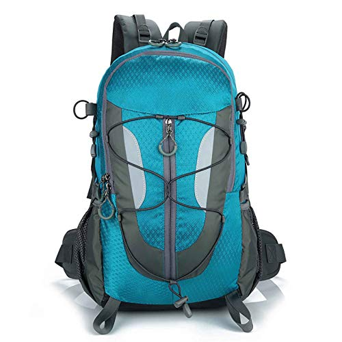 JIEXIAO 30 Liter Ultralight Backpack Foldable Hiking Backpack Waterproof Rucksack Travel Bag for Men And Women,Blue