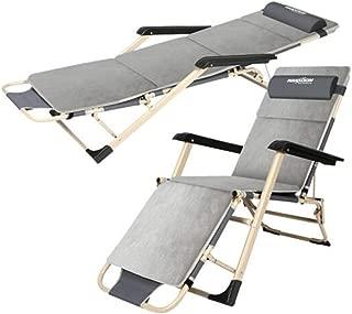 NYDZDM Sun Lounger and Headrest Folding Recliner Camping Leisure Reclining Garden Bed Sofa Support