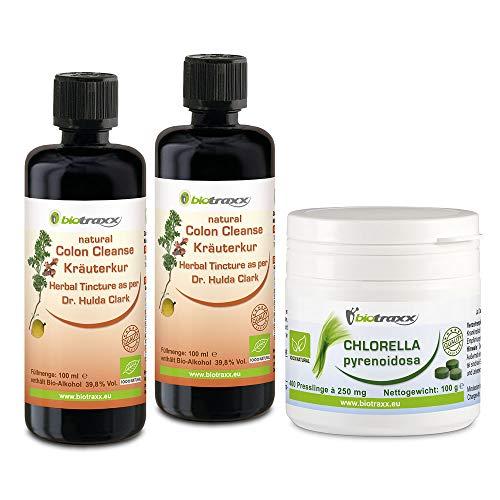Biotraxx Cleanse para humanos con Ajenjo, Nogal Negra, la receta de la Dr. Hulda Clark | Chlorella elimina toxinas