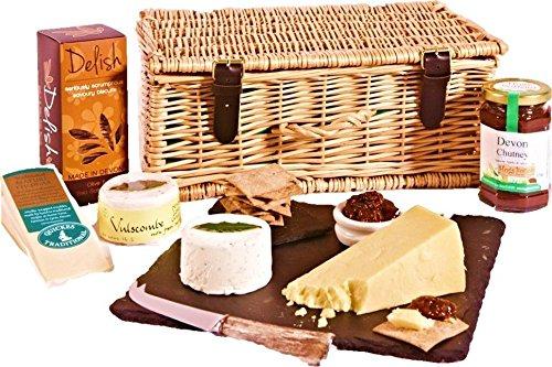 Devon Cheese and Biscuits Hamper - Standard Box