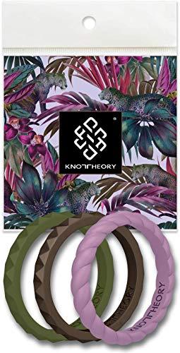 Knot Theory - Anillos de Boda de Silicona para Mujer - Oro Rosa, Plata, Rosa, Morado, Turquesa, Blanco - Regalo para Esposa de Marido