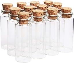 Botellas de Vidrio con Tapas 10 ml Mensaje Deseo de Fiesta de Bodas Mini Botellas de Cristal con Tapones de Corcho PROKITCHEN 60 Botellas de Deseo