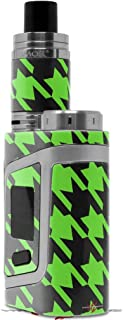 Skin Decal Wraps for Smok AL85 Alien Baby Houndstooth Neon Lime Green on Black Vape NOT Included