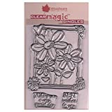 Woodware JGS547 Jane Gill Clear Magic Stamp-Three in a Box, Kunststoff -