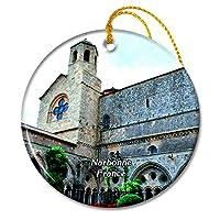 ナルボンヌフランスフォントフロイド修道院クリスマスオーナメントセラミックシート旅行お土産ギフト