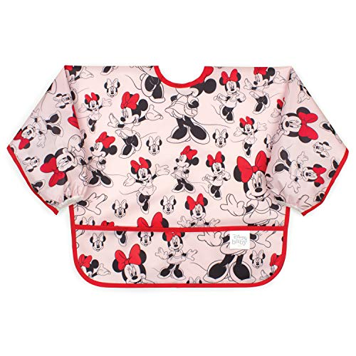 Bumkins Sleeved Bib Disney Baby Bib / Toddler Bib / Smock, Waterproof, Washable, Stain and Odor Resistant , 6-24 Months
