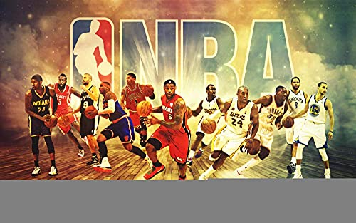 IUWAN Rompecabezas para Adultos, niños, Rompecabezas de 1000 Piezas, Rompecabezas de póster All-Star de la NBA, Juego de Rompecabezas desafiante, tamaño de Caja 38X26Cm