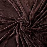 ESTEXO Hochwertige Kuscheldecke versch. Größen und versch. Farben wählbar - Tagesdecke, Bettüberwurf, Decke, Flanelldecke, XL, XXL,XXXL, 210x280, 220x240, 150x200 cm (150 x 200 cm/XL, Braun)
