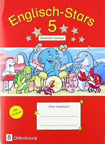 Englisch-Stars - Allgemeine Ausgabe: 5. Schuljahr - Übungsheft Grammar Comics: Mit Lösungen