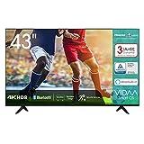 Hisense 43AE7000F 108cm (43 Zoll) Fernseher (4K Ultra HD, HDR, Triple Tuner DVB-C/S/S2/T/T2, Smart-TV, Frameless, Bluetooth, Alexa, 3 Jahre Garantie)