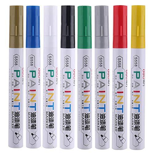 No se desvanece para la pintura de neumáticos Pen Permanente de la pintura del neumático de la pintura PIN 8 PCS