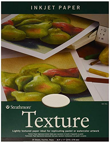 "Strathmore (59-701 Textured Inkjet Paper, 8.5""x11"", 25 Sheets"