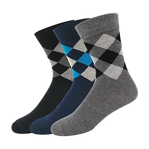 NAVYSPORT Men's Cotton Socks (Pack of 3) (mp17_Multicolored)
